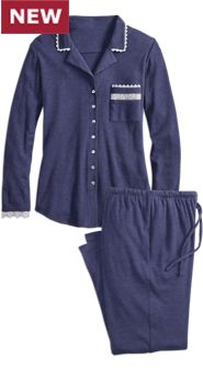 Eileen West Midnight Knit Pajamas
