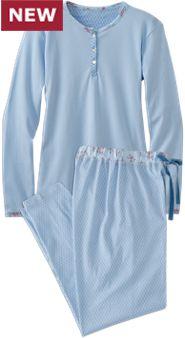Womens Blue Beauty Pajamas