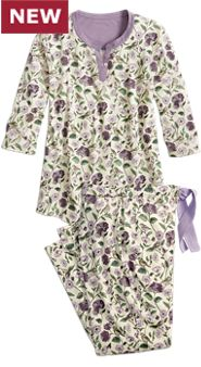 Womens Bird and Butterfly Pajamas