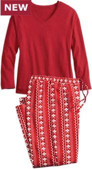 Nordic Snowflake Pajamas
