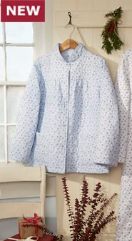 Quilted Flannel Bed Jacket