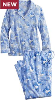 Lanz Sleeping Moon and Stars Pajamas