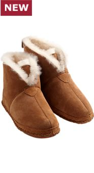 Mens Soft Bottom Shearling Booties