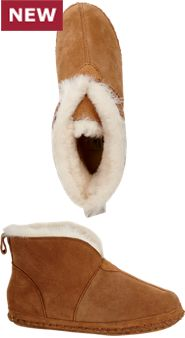 Womens Soft Bottom Sheepskin Booties