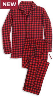 Mens Lanz Buffalo Plaid Flannel Pajamas