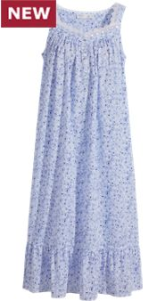 Eileen West Blue Rose Nightgown