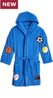 Kids Hooded Terry Sports Robe