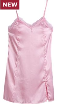 Womens Satin and Lace Chemise