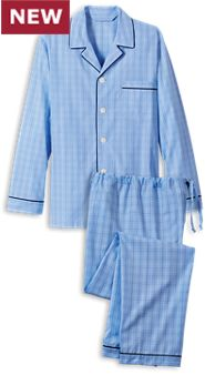 True Blue Cotton Pajamas
