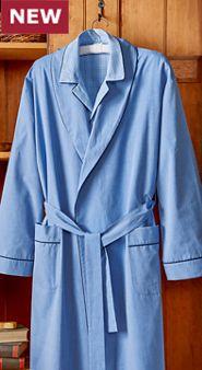 True Blue Cotton Wrap Robe