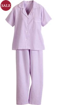 Seersucker Cotton Pajamas