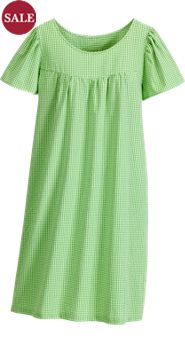 Simple Seersucker Nightgown