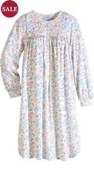 Lanz Meadow Blossom Knit Nightgown