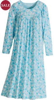 Calida Long-Sleeve Print Knit Nightgown