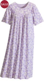 Calida Short-Sleeve Print Knit Nightgown
