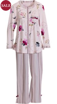 Pampering Petals 'n Stripes Knit Pajamas: