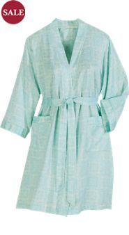 Miss Elaine Peached Satin Robe