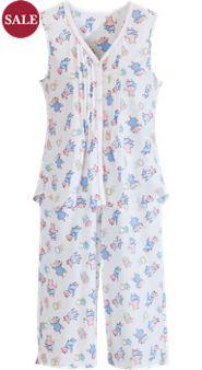 Lanz Sleeveless Summertime Pigs Pajamas