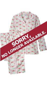 Womens Lanz Cottage Rose Flannel Pajamas