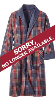 Double-Comfort Flannel Robe