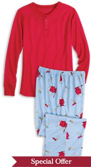 Snoopy and Woodstock Pajamas