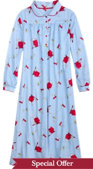 Snoopy and Woodstock Nightgown