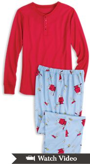 Snoopy and Woodstock Pajamas