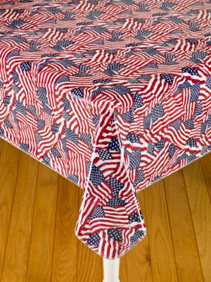 Heavy Duty Oblong Oilcloth Tablecloth