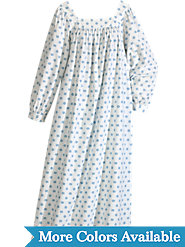 Long Cotton Flannel nightgown