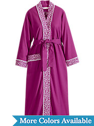 Eileen West Forget-Me-Not Flannel Robe