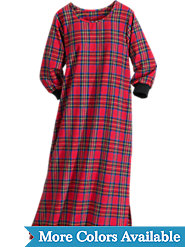 Tartan Plaid Cotton Flannel nightgown