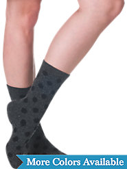 Who Said Luxury Socks Have to Be Boring? Cashmere Blend Polka Dot Crews Are Fun and Fabulous