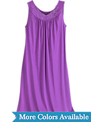 Shadowline Waltz-Length Sleeveless nightgown