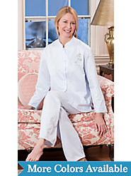 Asian-Inspired Brushed Back Satin Pajamas for Elegant Evenings