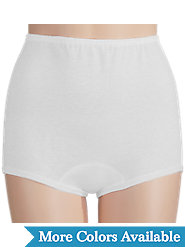 Combed-Cotton Briefs Have Covered Elastic Waist and Leg Bands
