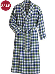 Plaid Cotton Flannel Robe