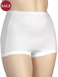 Combed-Cotton Panties in Long-Torso Style