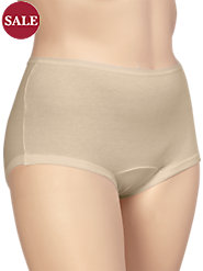 Combed-Cotton Panties in Short-Torso Style