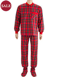 Men's Footed Pajamas