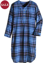 Men's Plaid Flannel Nightshirt